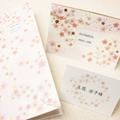結婚式招待状 席次表 【 さくら 】