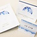 結婚式招待状 席次表 【 ゆき 】 ホワイト