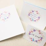 結婚式招待状 席次表 【 幸せの青い鳥 】